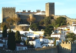 Obidos Portugal town and castle